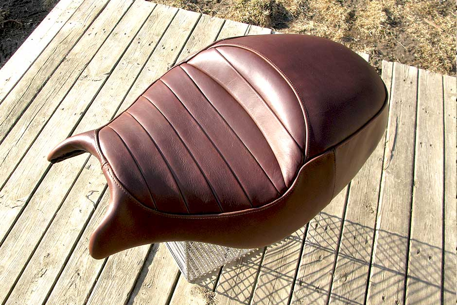 Custom Motorcycle Seat | handmade leather Ducati seat