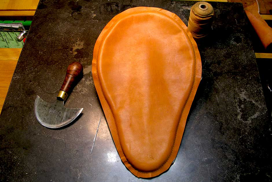 Custom Motorcycle Seat | Handmade leather bicycle seat