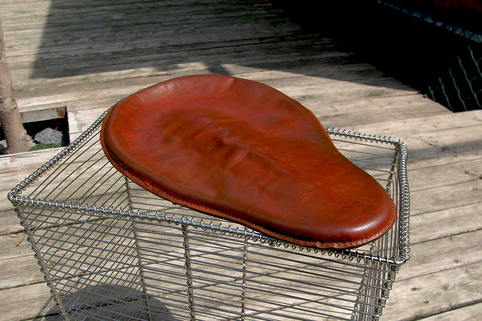 Custom Motorcycle Seat | Custom-made vintage bicycle seat