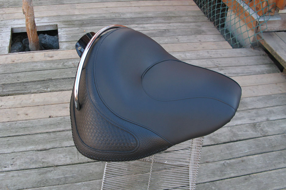 Custom Motorcycle Seat | Raised HD seat